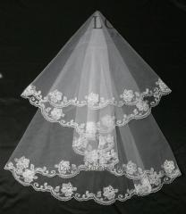 The veil embroidered 2-C