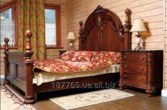 Кровать двуспальная из массива дуба, ольха