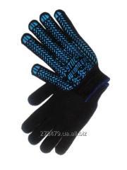 Перчатки с точкой ПВХ 622 класс 10 черные