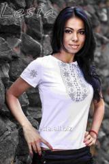 Жіноча футболка Мережка сіра код 1211550
