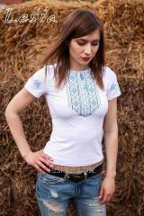 Жіноча футболка Мережка синя код 1211555