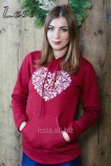 Жіночий светр-худі Серце срібне код 9730510