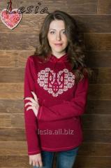Жіночий светр-худі З Україною в серці код 9730608