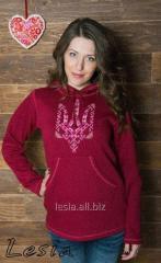 Жіночий светр-худі Тризуб-вишиванка код 9730611