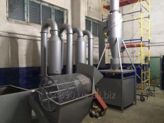 Aerodynamic dryer of sawdus