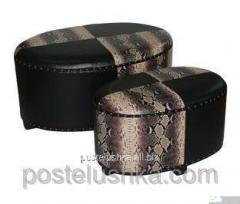 Padded stool banquette FA10L Handy-Home, oval on