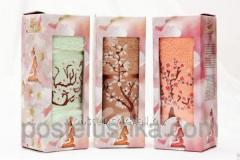 Gift terry towel 50kh90sm the Oriental cherry with