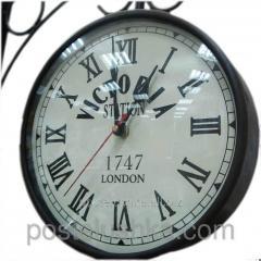 Часы станционные 6 railway clock white 6 24713