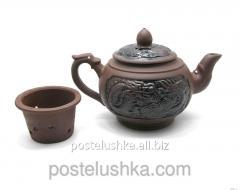 Чайник глина с ситом дракон 500 мл 13х21х11,5 см