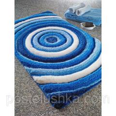 The Confetti bath mat - Efesus of 60х100 cm Blue