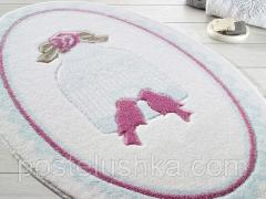Confetti Bird Cage bath mat of blue 66х107 cm