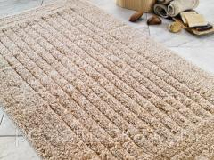 Confetti Cotton Stripe bath mat of beige 60х100 cm