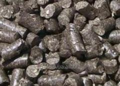 Granules from sunflower pod (pellets).