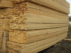 Calibrated dry pine timber