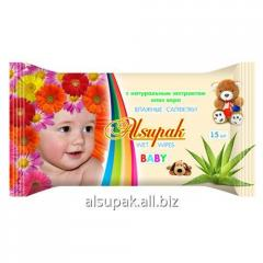 Wet towel wipes aloes, Children's with extrac