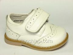 Детские туфли-мокасины, 20-25р, Шалунишка, белый,