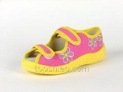Детские тапочки Waldi:124-518 Роз+Жолт-Цветок С