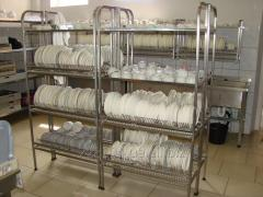 Rack drying for ware 4 Ur. 2 plates +2 cups + pallet 1000х320х1800