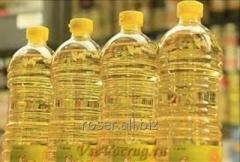 Подсолнечное рафинированное масло в бутылках