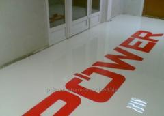 Bulk polyurethane two-component decorative floor