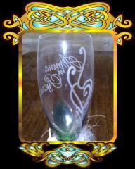Glasses nominal with a list Wedding