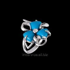 Кольцо Барвинок бирюза голубая