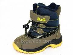 Детская зимняя обувь термо-ботинки B&G: