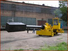 Car muldozavalochny with a loading capacity of 2