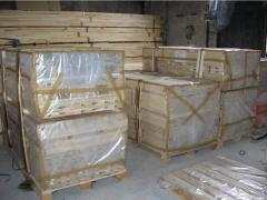 Tablas, listones, chapas de madera blanda