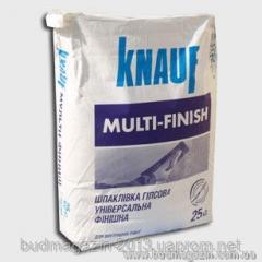 Hard putty finishing Knauf Multifinish of 25 kg