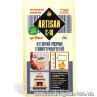 Glue for fireplaces, furnaces, heat-insulated