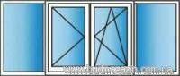 Balcony metalplastic Rehau euro 70 3000x1500