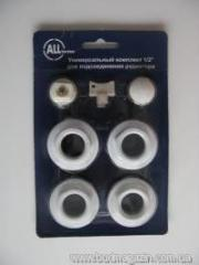 Radiator connection kit universal 1/2