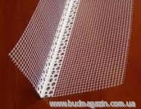 Corner plastic with a grid for facades of 3 m