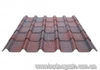 Leaf roofing Onduvilla brown 3D
