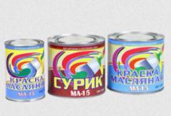 Краски масляные МА 15