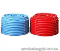 Corrugated sleeve of 18/22 red/blue 50 m