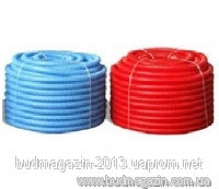 Corrugated sleeve of 29/35 red/blue 25 m