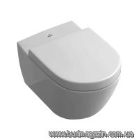 Toilet bowl of suspended Villeroy & Boch