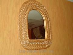 Зеркало Арка в плетеной раме из лозы №2 код