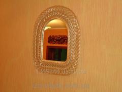 Зеркало Арка в плетеной раме из лозы №3 код