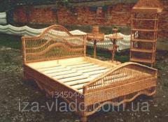Кровать детская плетенная из ивовой лозы. код