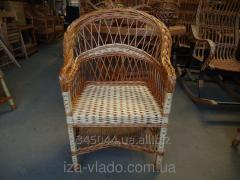 Wicker chair from a rod a code 124650961