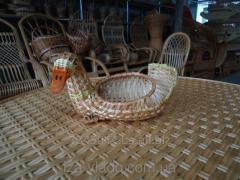 Сувениры плетеные из лозы Утка код  75447332