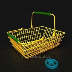 Der Einkauf für Waren Einkaufskorb