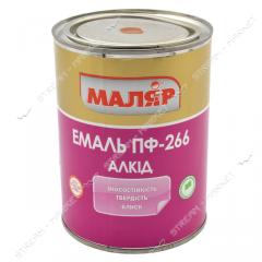 Эмаль алкидная ПФ-266 Маляр 0.53л для пола красно-коричневая 709295