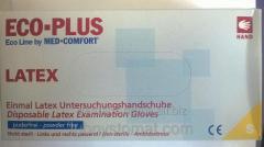 Перчатки ECO-PLUS - латексные без пудры