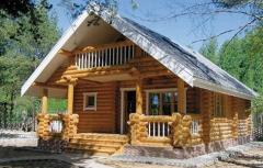 Cylindrical logs houses