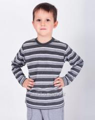 Jumper for the boy a gray strip, a code: 3044