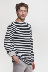 Jersey man's stripped vest blue, code: 1029-1